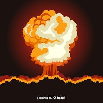 Design piatto effetto esplosione nucleare