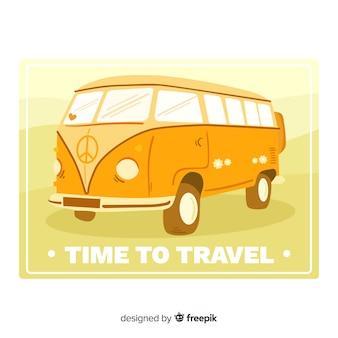 Design piatto etichetta vintage viaggio