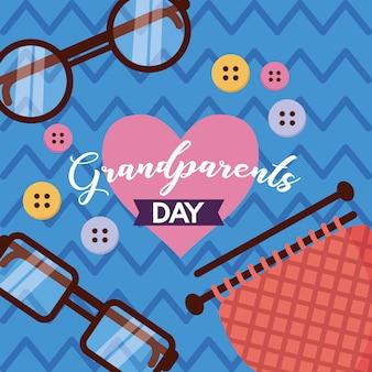 Design piatto felice giorno dei nonni