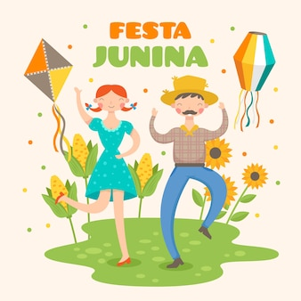 Design piatto festa junina e girasole