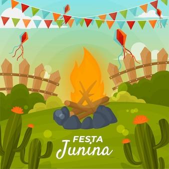 Design piatto festa junina