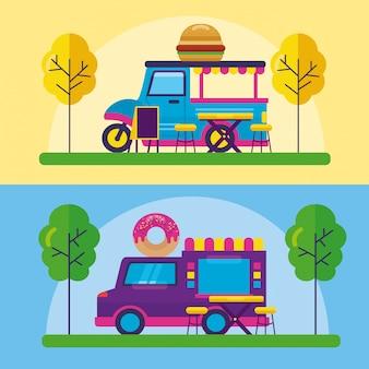 Design piatto festival di camion di cibo