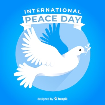 Design piatto giornata della pace con colomba