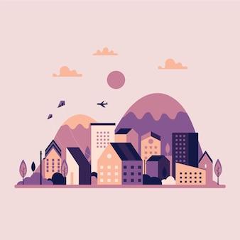 Design piatto giornata mondiale dell'habitat concetto