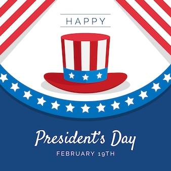 Design piatto giorno del presidente con cappello