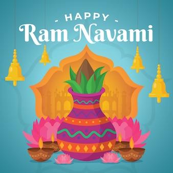Design piatto happy ram navami day event the, e
