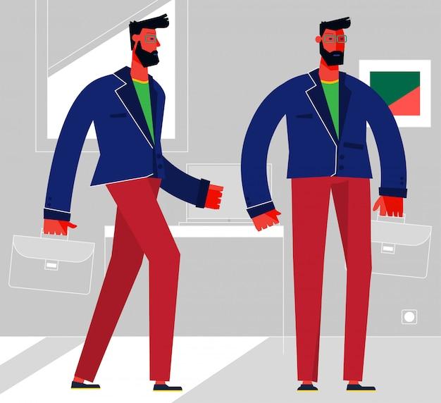 Design piatto illustrazione alla moda, persone in varie pose