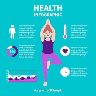 Design piatto infografica salute verde