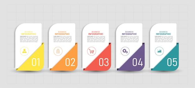 Design piatto infografica.