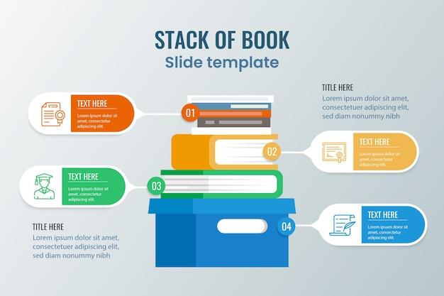 Design piatto libro infografica