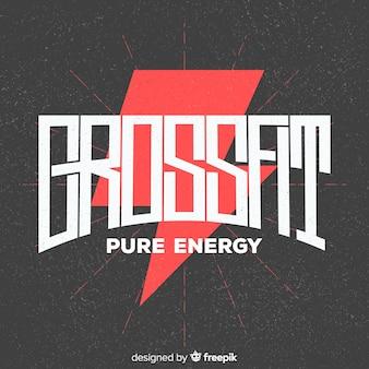 Design piatto logo motivazionale crossfit