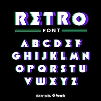 Design piatto modello alfabeto vintage