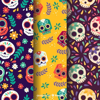 Design piatto modello dia de muertos