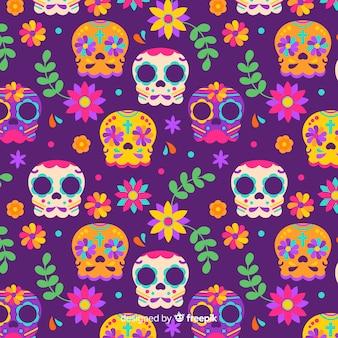 Design piatto modello día de muertos