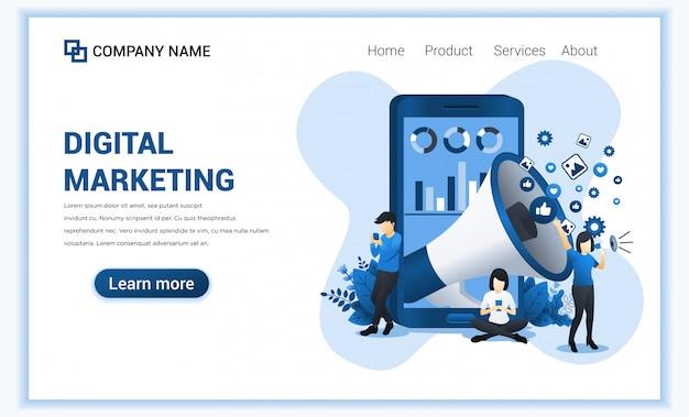 Design piatto moderno di analisi commerciale con personaggi in riunione d'affari, visualizzazione dei dati e report.