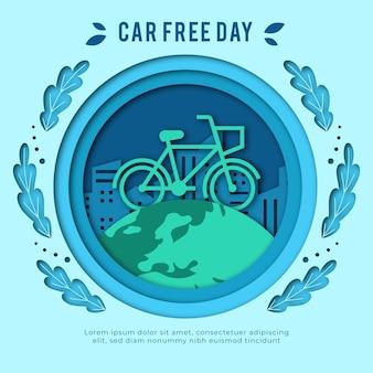 Design piatto mondo auto giorno libero sfondo