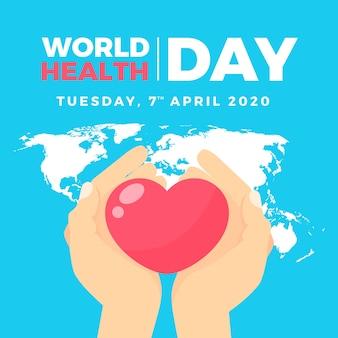 Design piatto mondo salute giorno sfondo