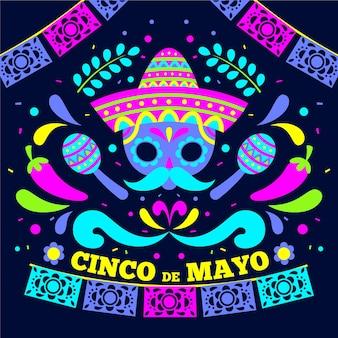 Design piatto per eventi cinco de mayo