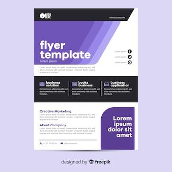 Design piatto per il modello flyer aziendale geometrica