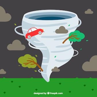 Design piatto per l'uragano