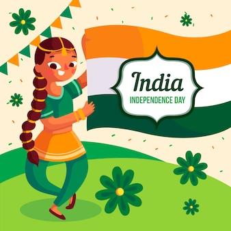 Design piatto per la festa della repubblica indiana