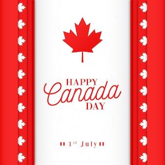 Design piatto per la giornata nazionale del canada