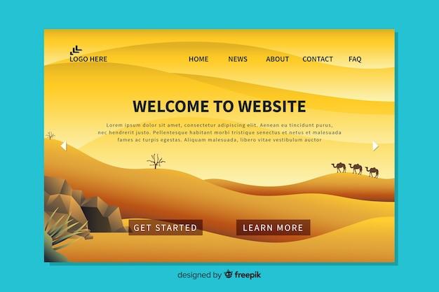 Design piatto per landing page di benvenuto