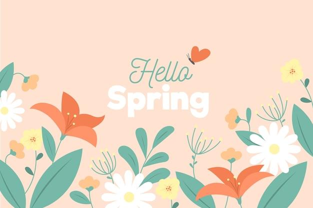 Design piatto primavera sfondo