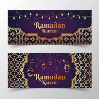 Design piatto ramadan banner modello design