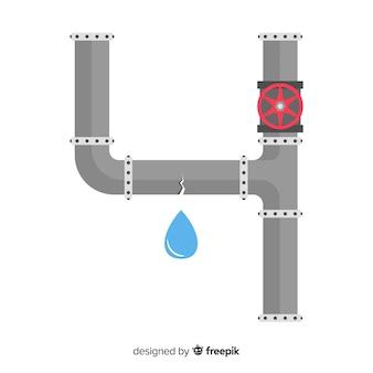 Design piatto rotto tubo