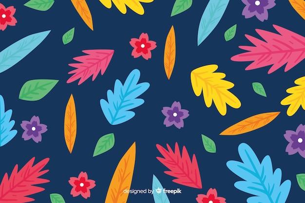 Design piatto sfondo botanico