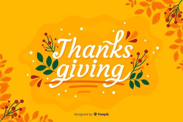 Design piatto sfondo del ringraziamento