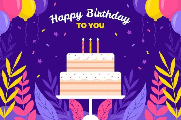 Design piatto sfondo di compleanno