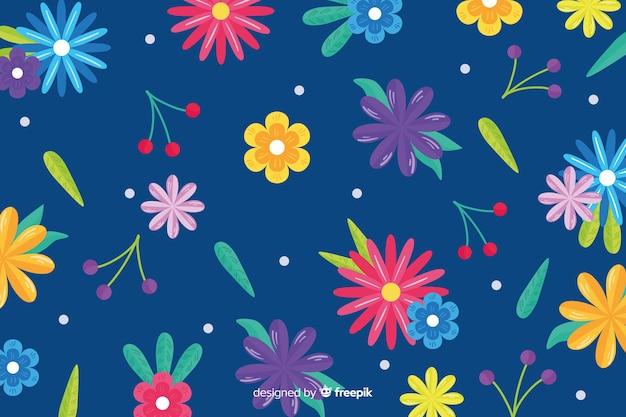 Design piatto sfondo floreale