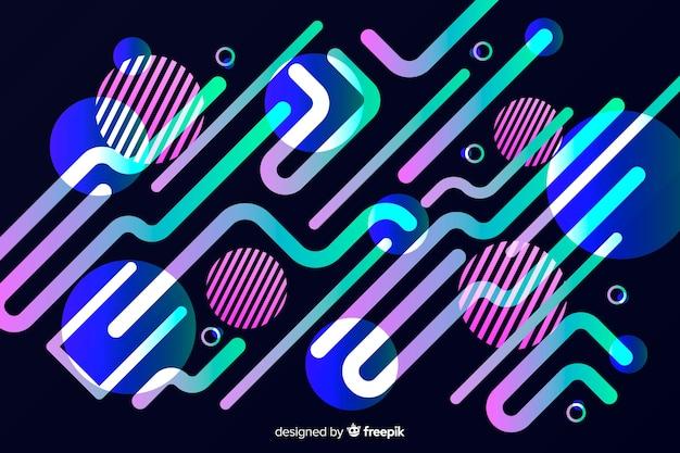 Design piatto sfondo gradiente dinamico