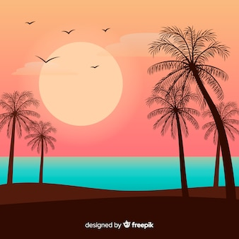 Design piatto sfondo paesaggio naturale