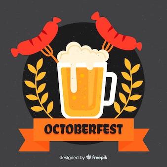 Design piatto sfondo più oktoberfest