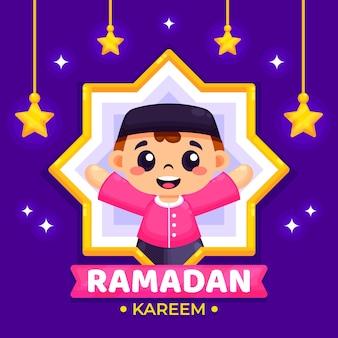 Design piatto sfondo ramadan