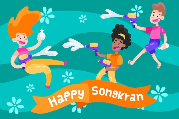 Design piatto songkran festival design