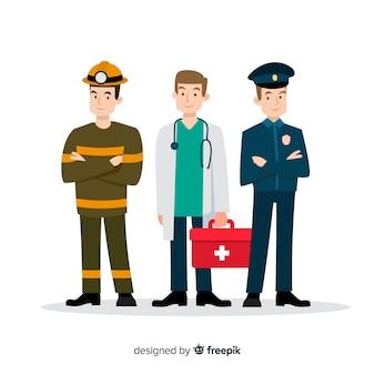 Design piatto squadra di emergenza