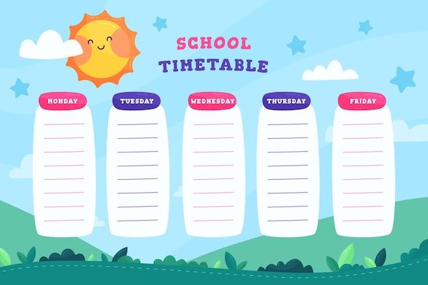 Design piatto torna all'orario scolastico