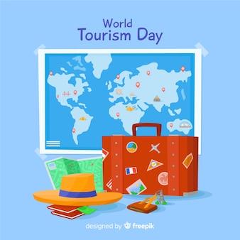 Design piatto turismo giorno sfondo