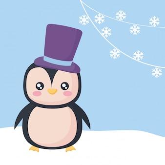 Design pinguino di natale