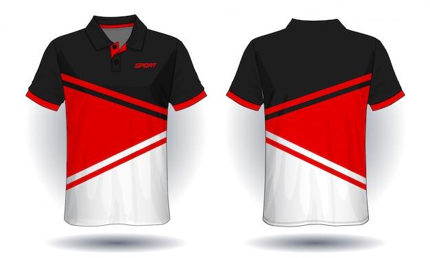 Design polo t-shirt, modello in jersey sportivo.