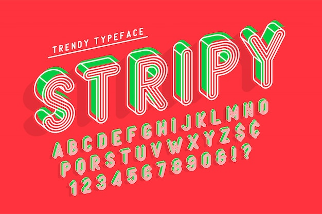 Design popart con font a display a strisce