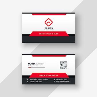 Design professionale biglietto da visita rosso