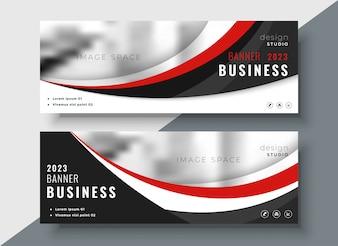 Design professionale di banner business rosso e nero