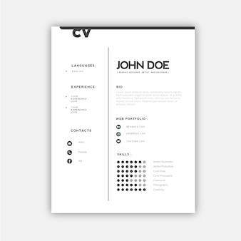 Design professionale per cv
