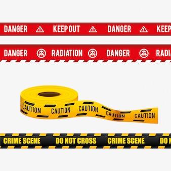 Design pubblicitario di pericolo.