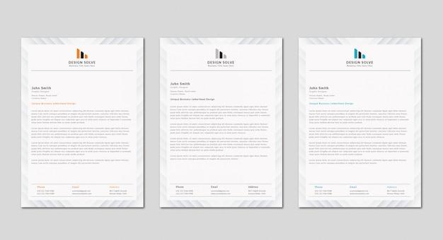 Design pulito e moderno della lettera commerciale